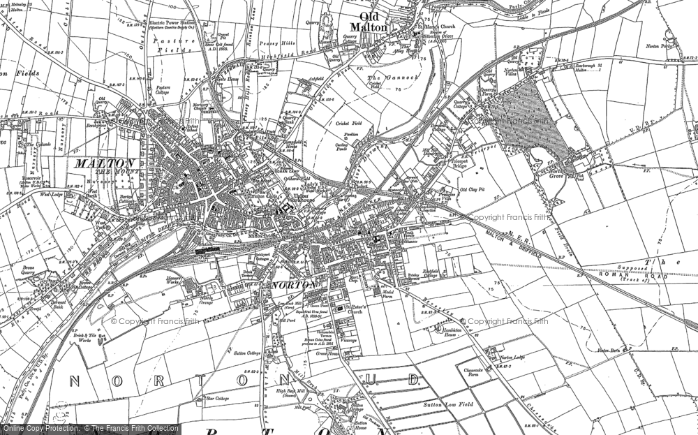 Old Map of Historic Map covering Abbey Ho, The in 1888