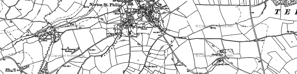 Old map of Norton St Philip in 1902