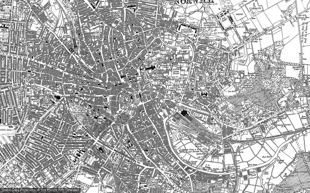 Old Maps of Norwich Francis Frith