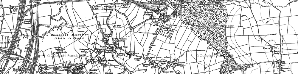 Old map of Norwood in 1901