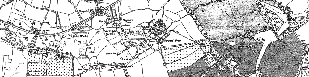 Old map of Norwood Green in 1894