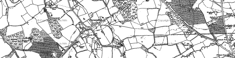 Old map of Wrays in 1895