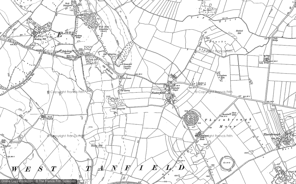 Old Map of Historic Map covering Langwith Ho in 1890