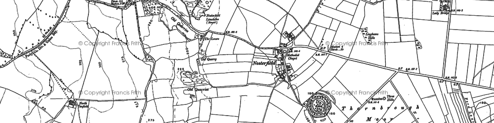 Old map of Langwith Ho in 1890