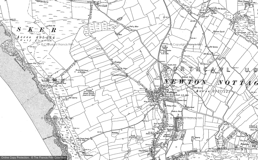 Old Map of Nottage, 1897 in 1897