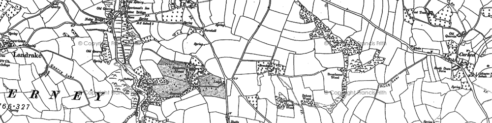 Old map of Notter in 1865