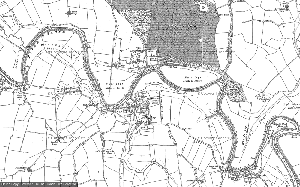 Old Map of Historic Map covering Woodbine Grange in 1898