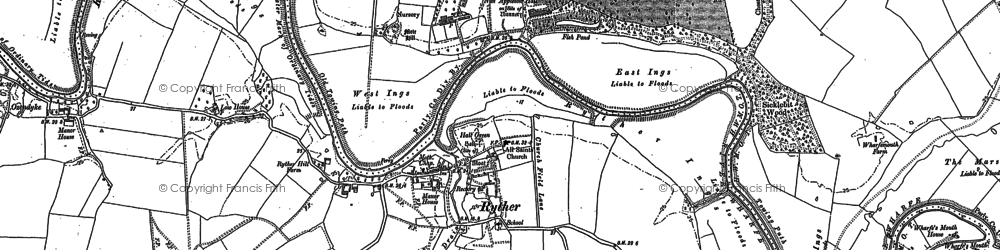 Old map of Woodbine Grange in 1898