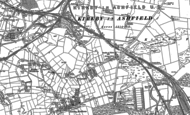 Old Map of Nuncargate, 1898 - 1899