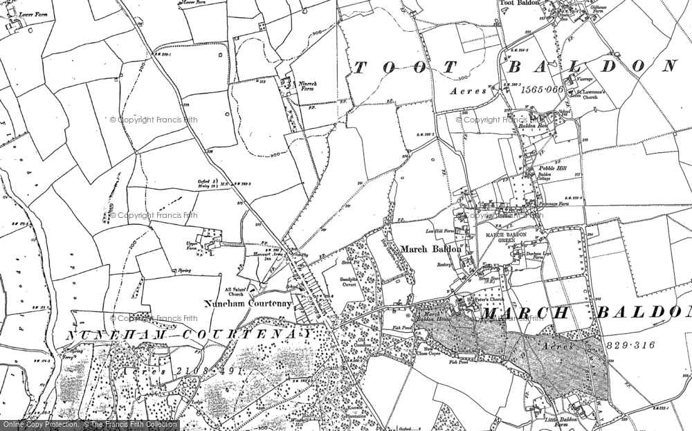 Old Map of Nuneham Courtenay, 1897 - 1911 in 1897