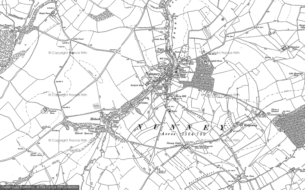 Old Map of Nunney, 1884 - 1902 in 1884