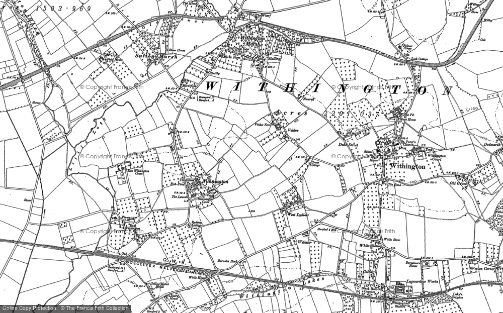 Old Map of Nunnington, 1886 in 1886