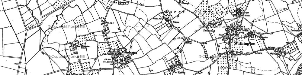 Old map of Nunnington in 1886