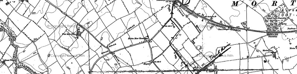 Old map of Nunthorpe in 1892