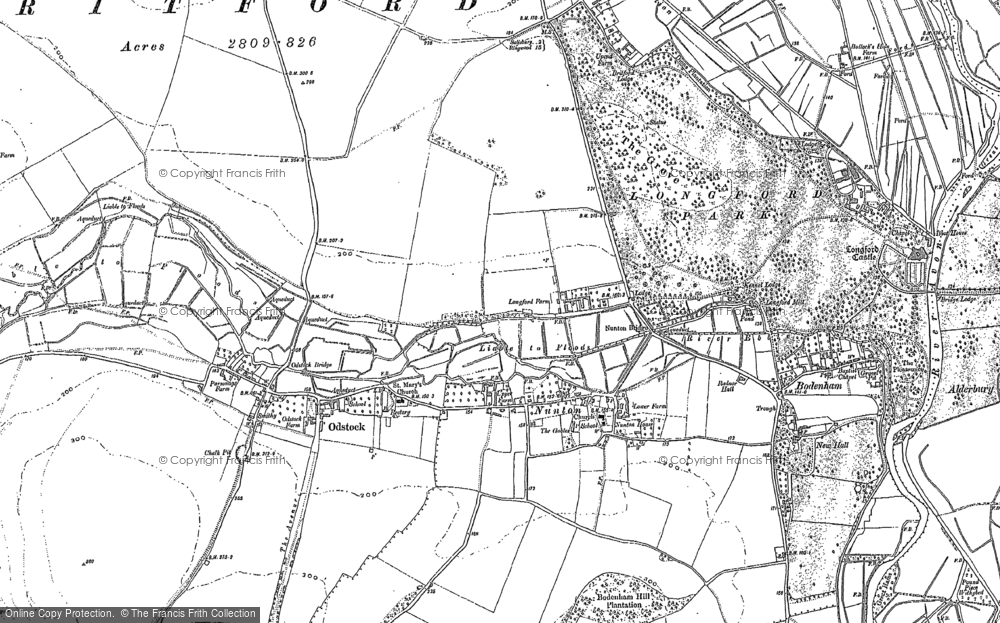 Old Map of Historic Map covering Clearbury Ring in 1899