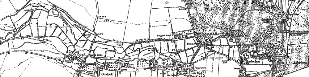 Old map of Nunton in 1899