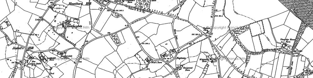 Old map of Hawthorn Hill in 1898