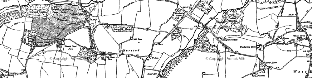 Old map of Westons in 1908