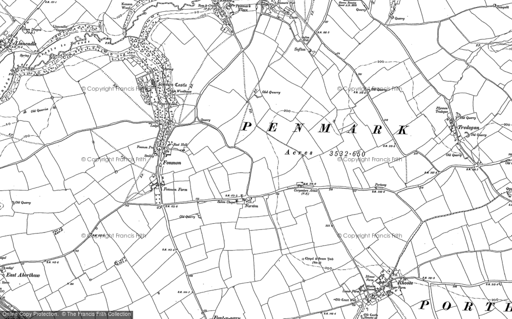 Old Map of Nurston, 1914 in 1914