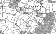 Old Map of Nuthampstead, 1896