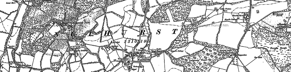 Old map of Nuthurst in 1896