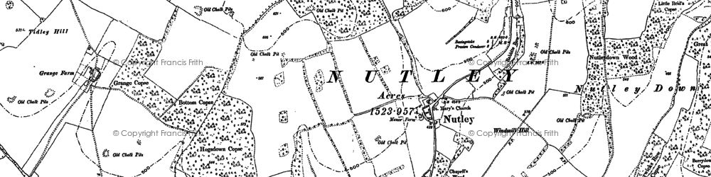 Old map of Windmill Hill in 1894