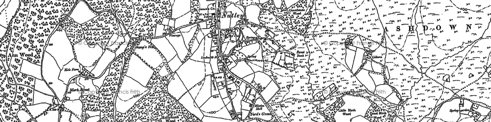 Old map of Nutley in 1897