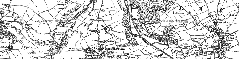 Old map of Lapfordwood Ho in 1886