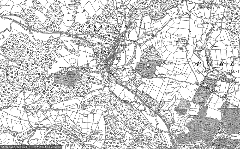 Old Map of Historic Map covering Lickshead in 1880