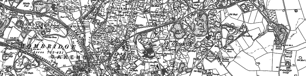 Old map of Oakengates in 1882
