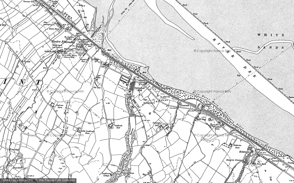 Old Map of Historic Map covering Lead Brook in 1898