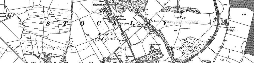 Old map of Oakenshaw in 1896