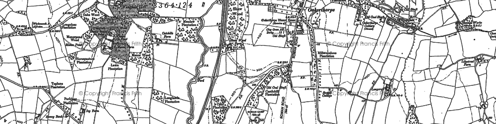 Old map of Oakerthorpe in 1879