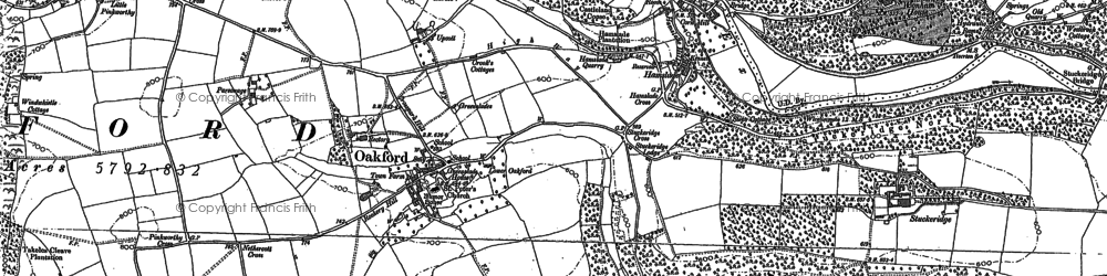 Old map of Westbrook Wood in 1887