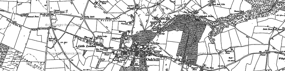 Old map of Ashwick in 1884