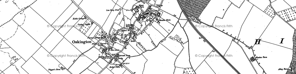 Old map of Westwick in 1886
