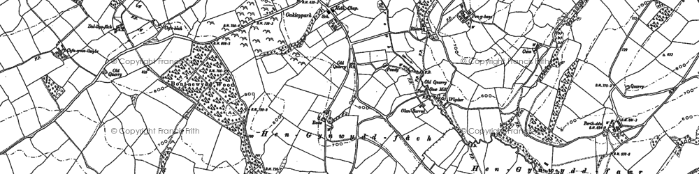 Old map of Wigdawr in 1884