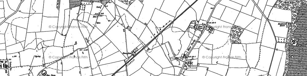Old map of Oakwood in 1879
