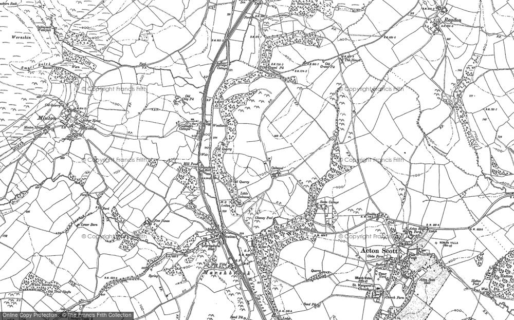 Old Map of Oakwood, 1882 - 1883 in 1882
