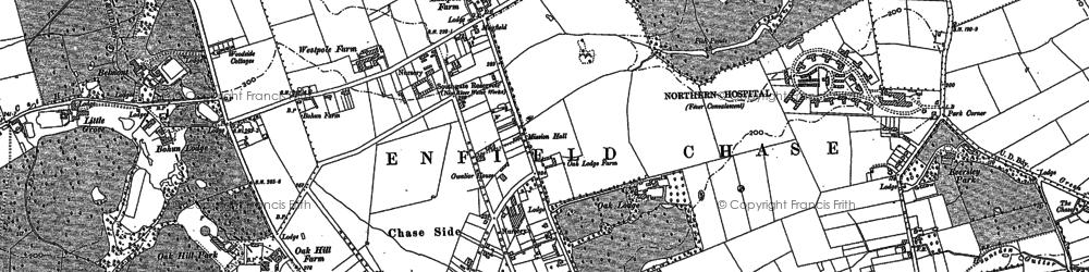Old map of Oakwood in 1895