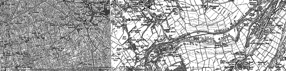 Old map of Oakworth in 1848