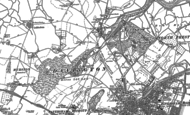 Old Map of Oare, 1896
