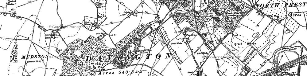 Old map of Oare in 1896
