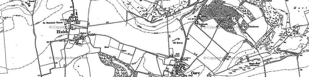 Old map of Oare in 1899