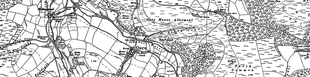 Old map of Yenworthy Common in 1902