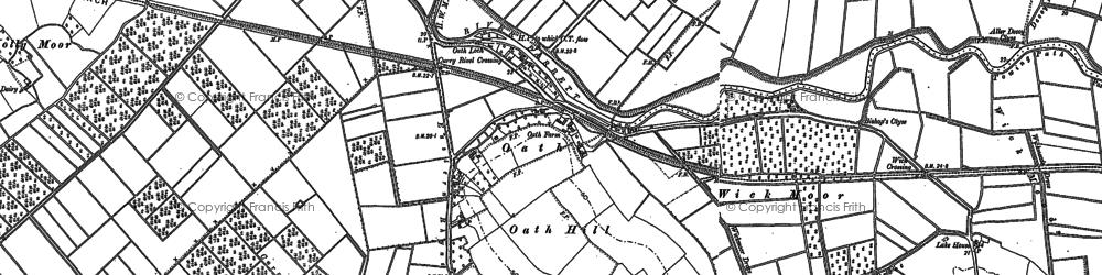 Old map of West Sedge Moor in 1885