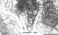 Old Map of Ocean Village, 1895 - 1896