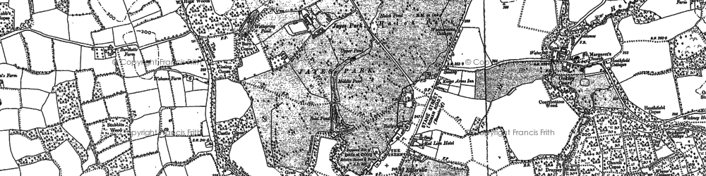 Old map of Ockley in 1913