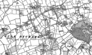 Old Map of Ocle Pychard, 1885 - 1886
