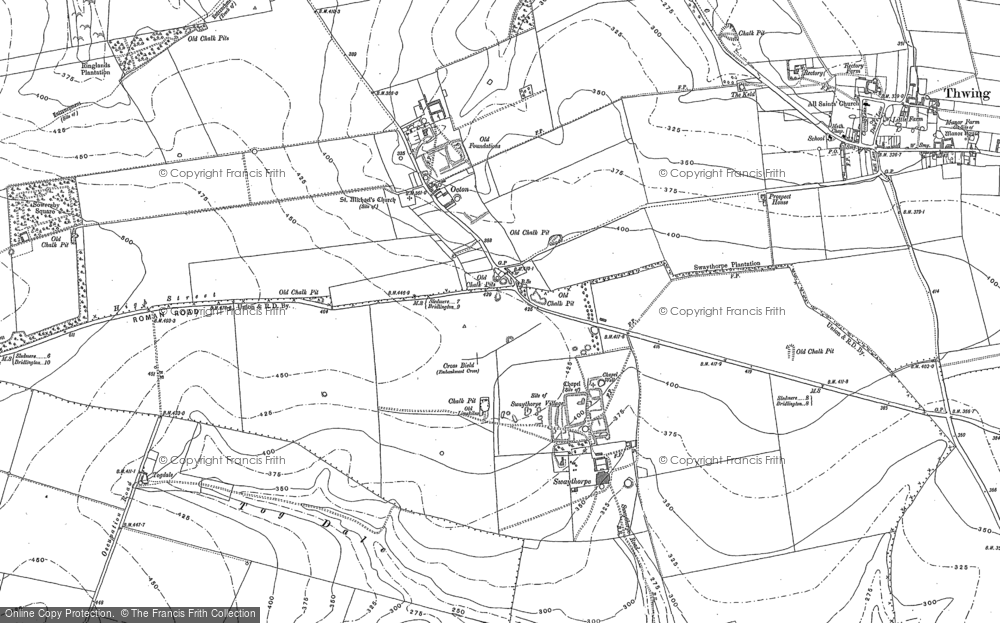 Old Map of Historic Map covering Tog Dale in 1888